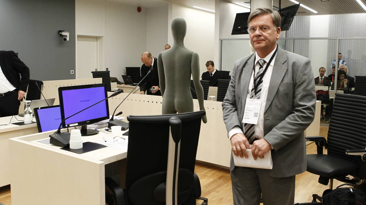 Rettsmedisiner Torleiv Ole Rognum under rettssaken mot Anders Behring Breivik