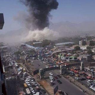 Bilde av en eksplosjon i nærheten av der Shokuria bodde i Kabul.