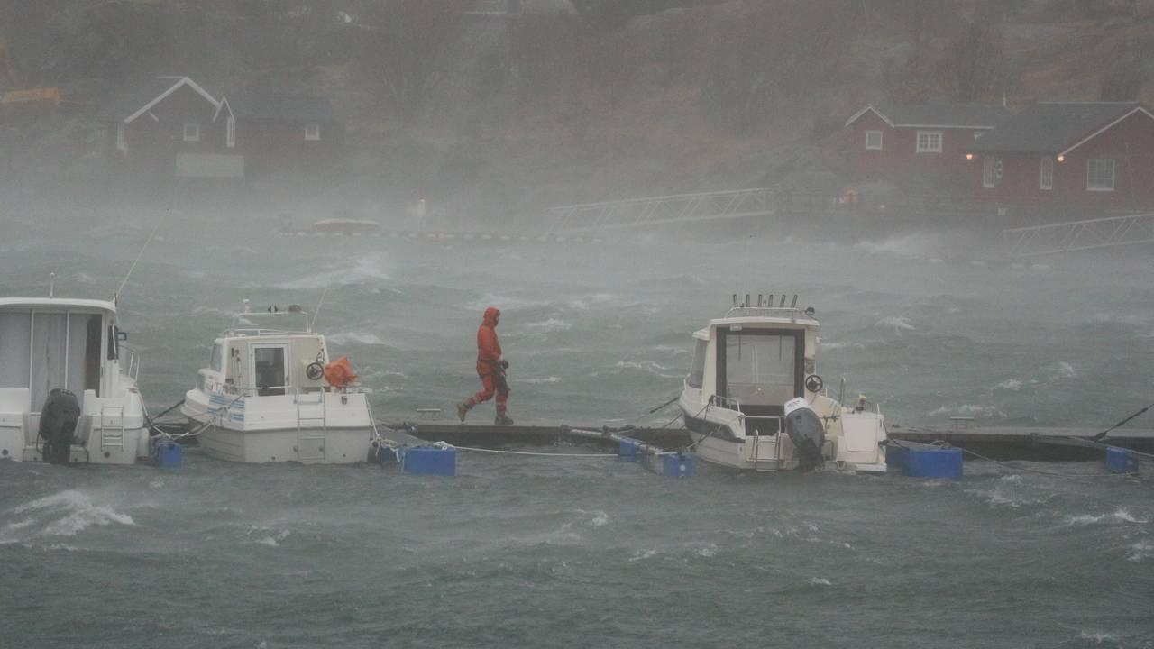 Risikabel spasertur i stormen