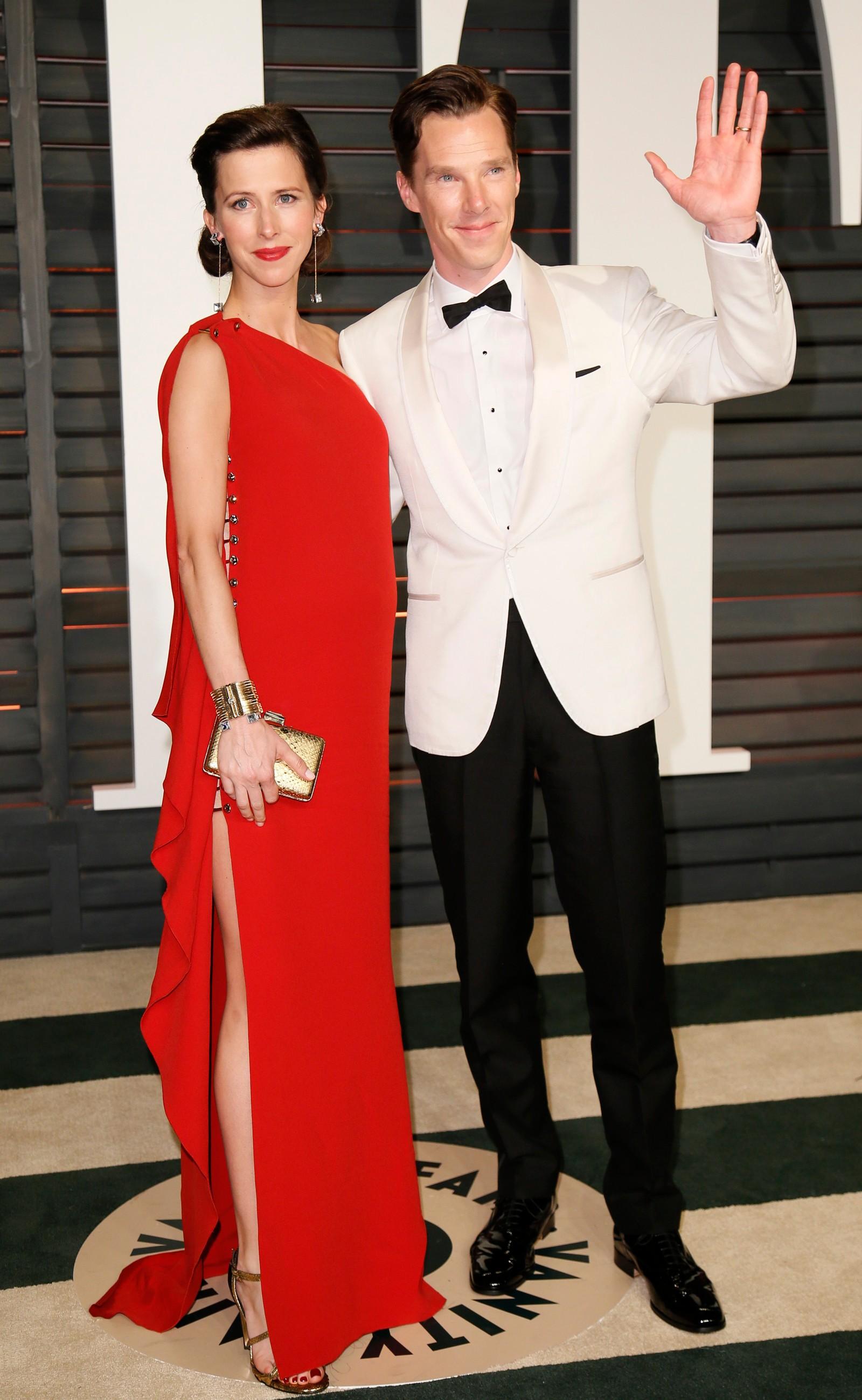 NUMMER FIRE: Benedict Cumberbatch og kona Sophie Hunter.