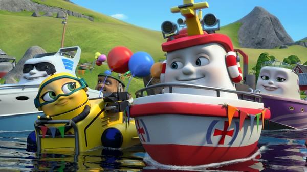 Norsk animasjonsserie. Den store paraden.Redningsskøyta Elias bor i Lunvik, og sammen med sine gode venner Helinor og Duppe redder de båter i alle mulige situasjoner.
