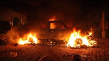 Bil satt i brann ved det amerikanske konsulatet i Benghazi