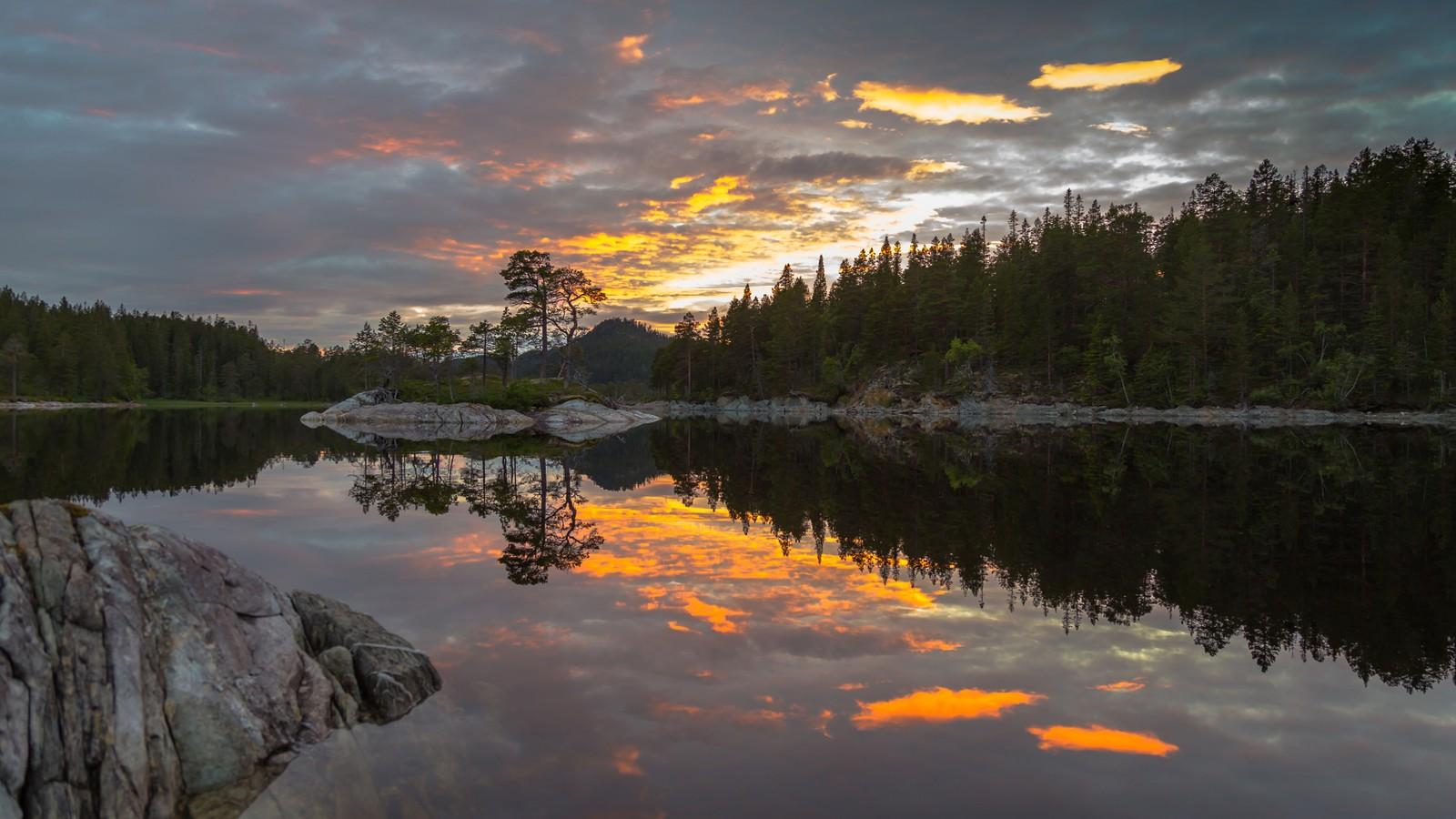 Ved Stor-Drakstsjøen i Malvik