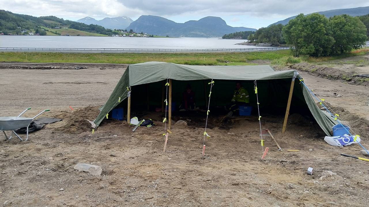 Vikinggrav funnet på Hestnes i Trøndelag.