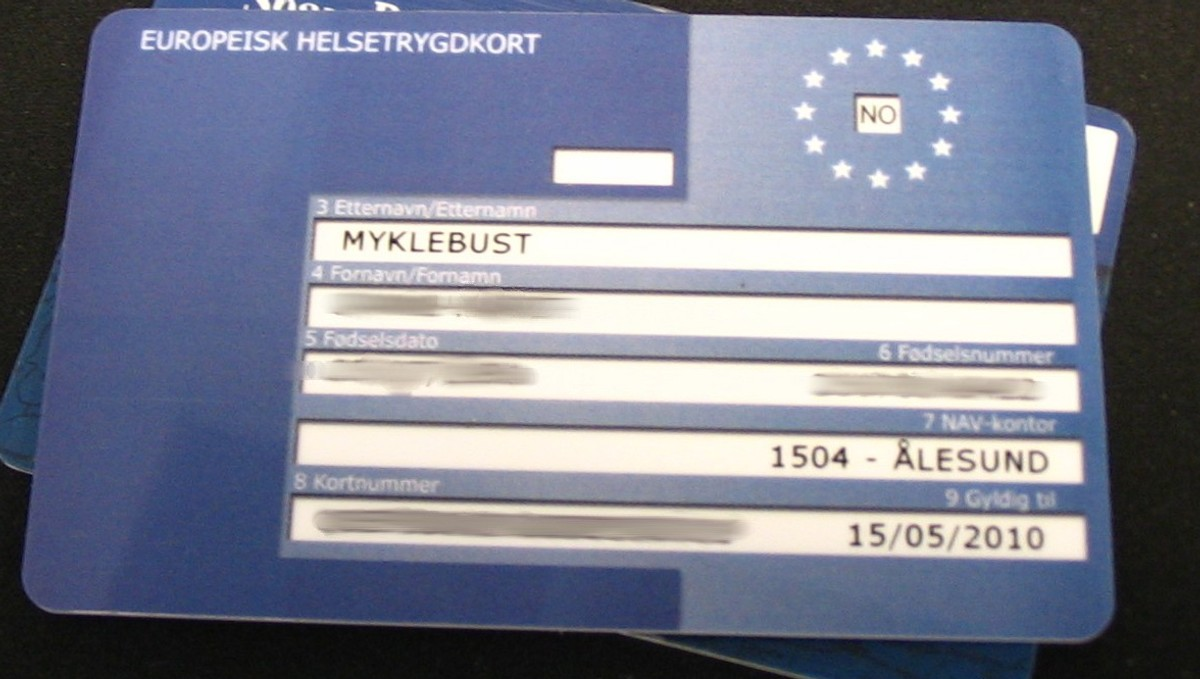 europeiske helsetrygdkort