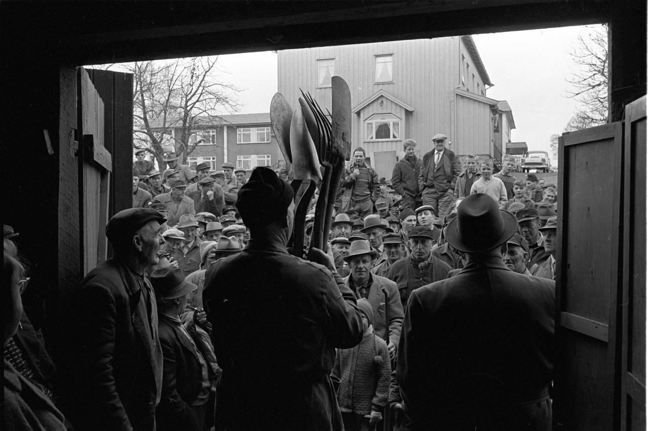 Auksjon på Jessheim, Ullensaker, mai 1963.