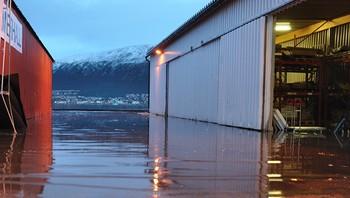 Springflo ved Neumann i Tromsø