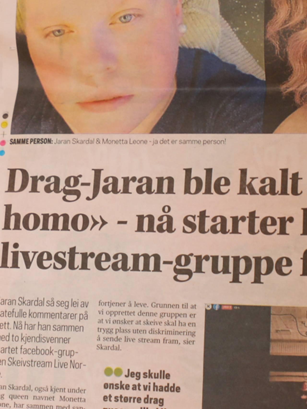 Avisutklipp 4, Jaran Skardal.