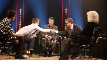 Magnus Carlsen og Bill Gates på Skavlan