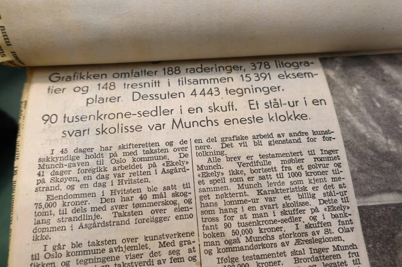 Munch-artikkel frå krigen