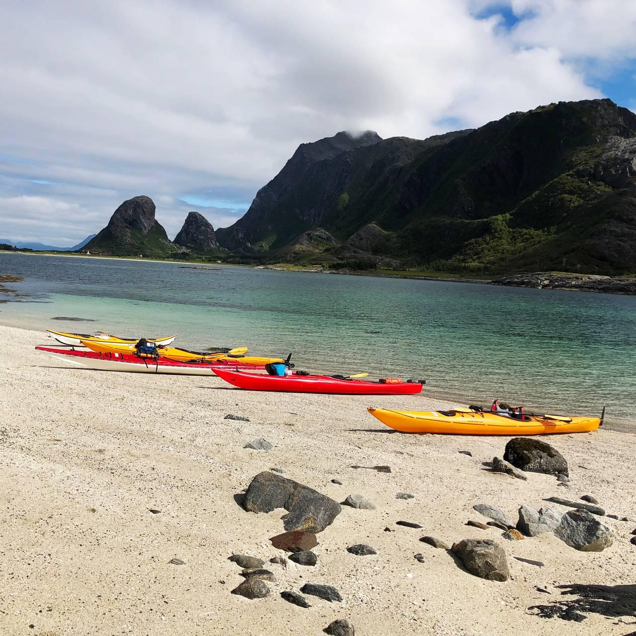 Flott strand på Helgelandskysten