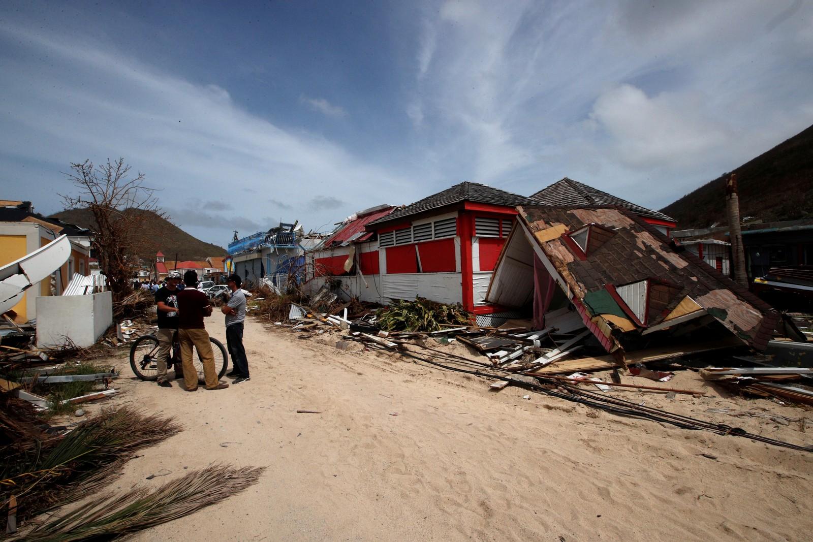 Store ødeleggelser i den franske delen av den karibiske øya St. Martin, etter at orkanen «Irma» har rast over øya.