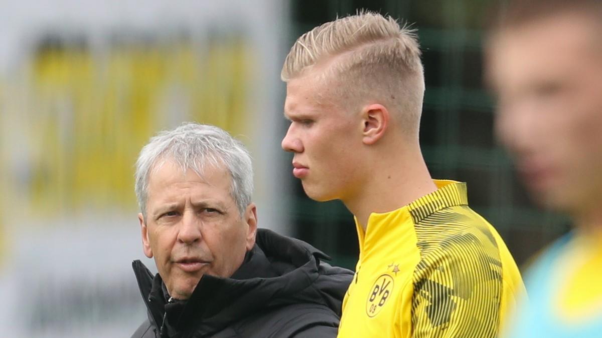 – Haaland i Dortmund-troppen