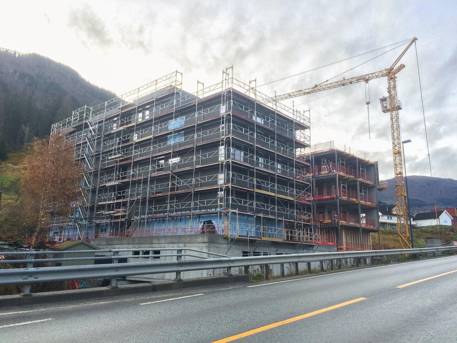 STUDENTBUSTADER: 150 studentbustader i Nedrehagen er under bygging og skal stå klare i 2016. Kostar 127 millionar.