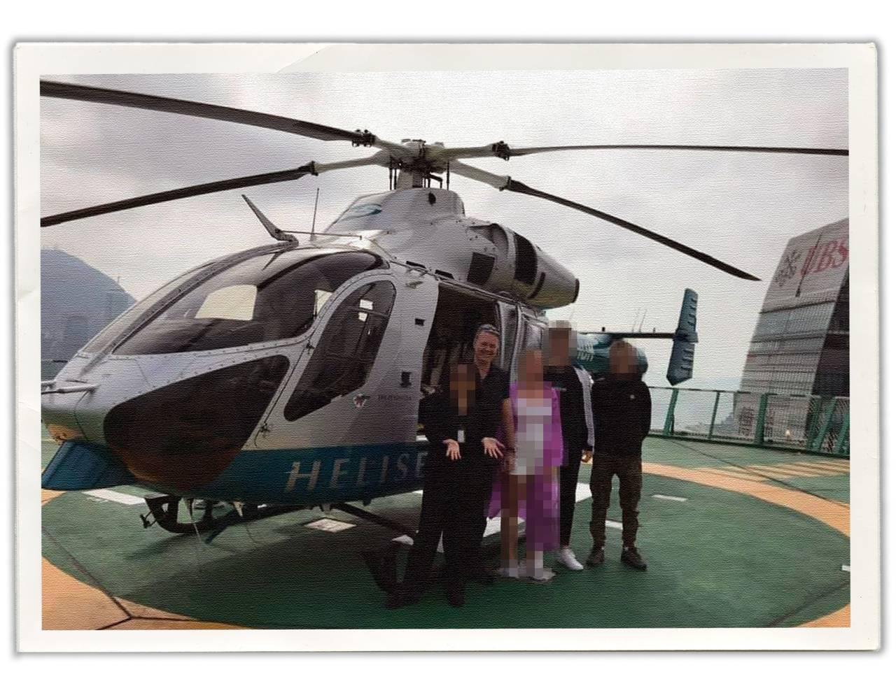 Jan Helge på helikoptertur