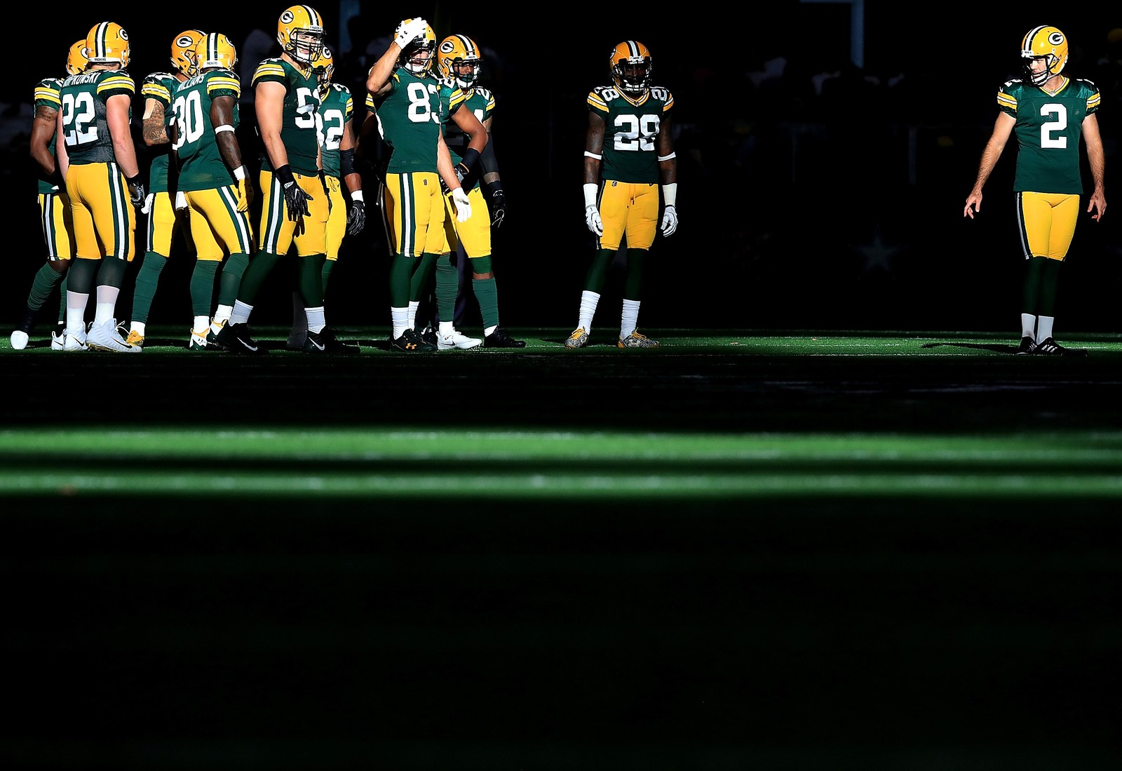 Green Bay Packers spilte mot Dallas Cowboys i Arlington i Texas.
