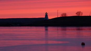 Solnedgang på Berg, Sømna
