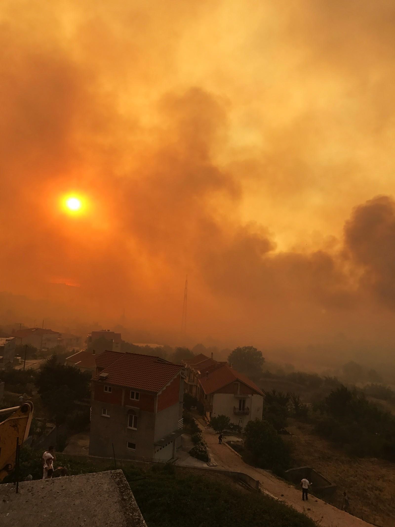 Utsikt fra feriehus i Split
