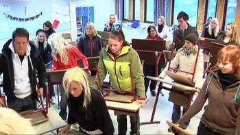 Elever ved Sandnessjøen vgs.