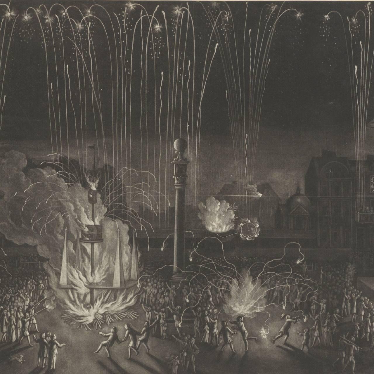 Firework in Covent Garden. Fra 1690.