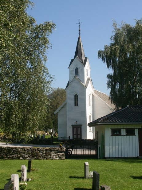 Hafslo kyrkje. Foto: Kjell Arvid Stølen, NRK.