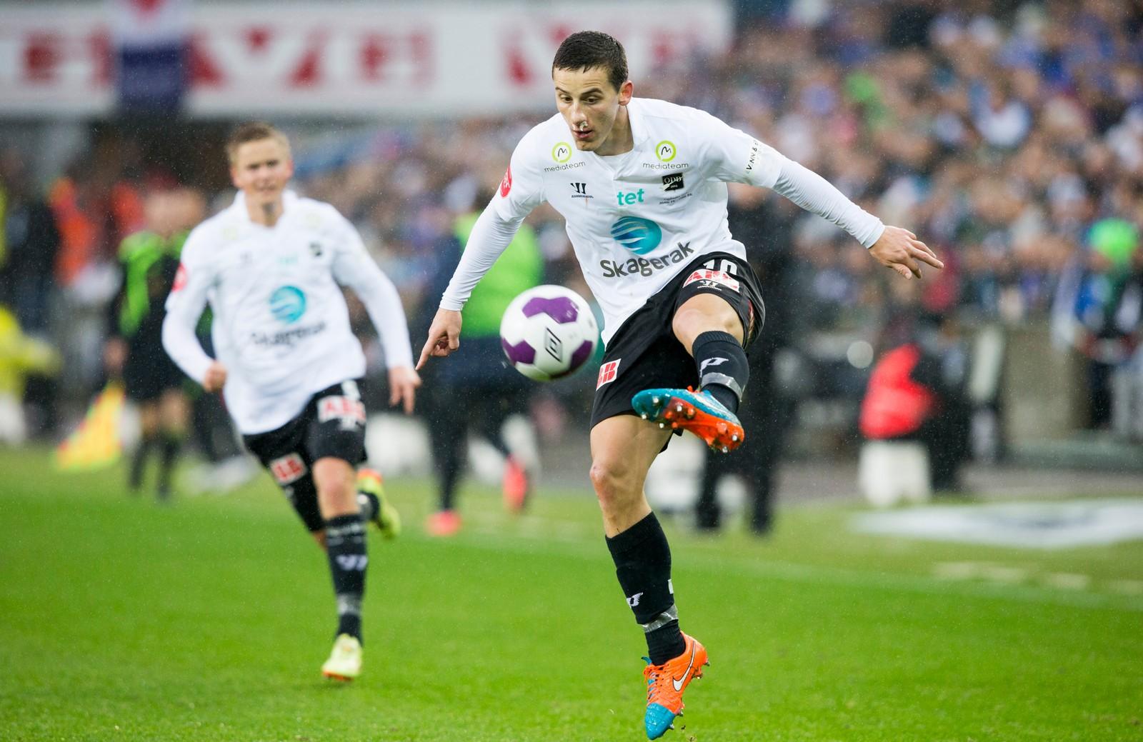 Herolind Shala under cupfinalen i fotball mellom Molde og Odd på Ullevaal stadion.