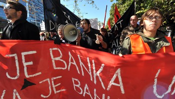 Demonstrasjon i Sarajevo