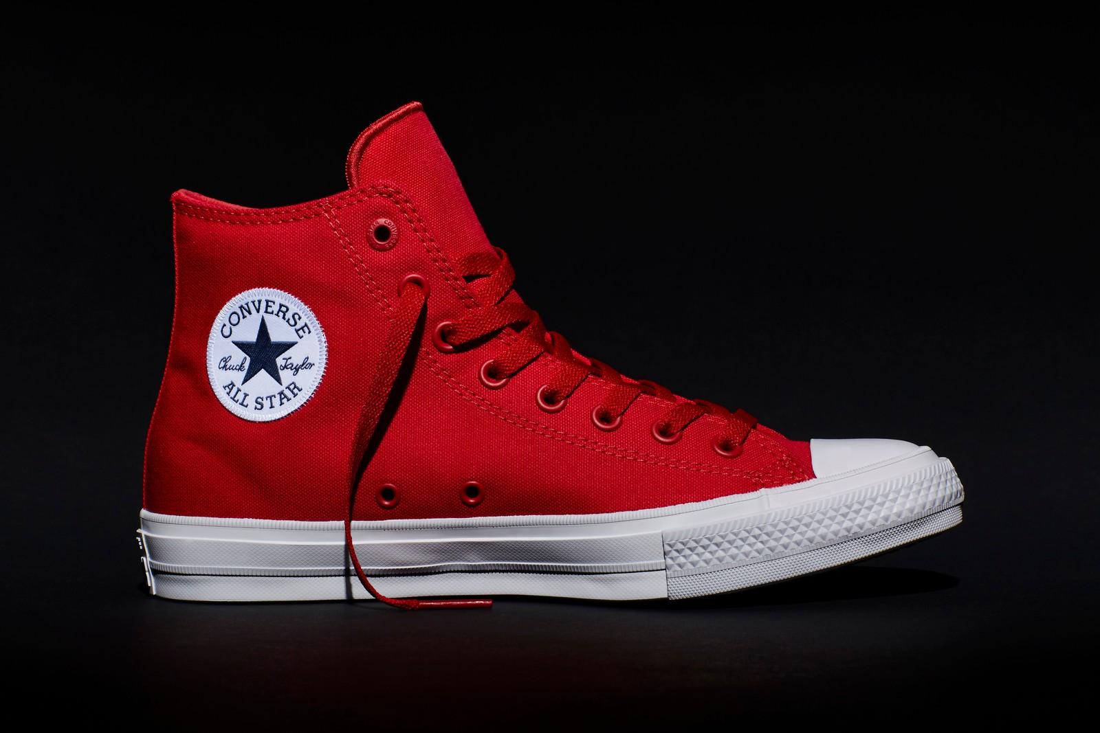 FARGEKOORDINERT: Oppdateringen gir All Star-skoen lisse- og luftehull i samme farge som lerretsstoffet.