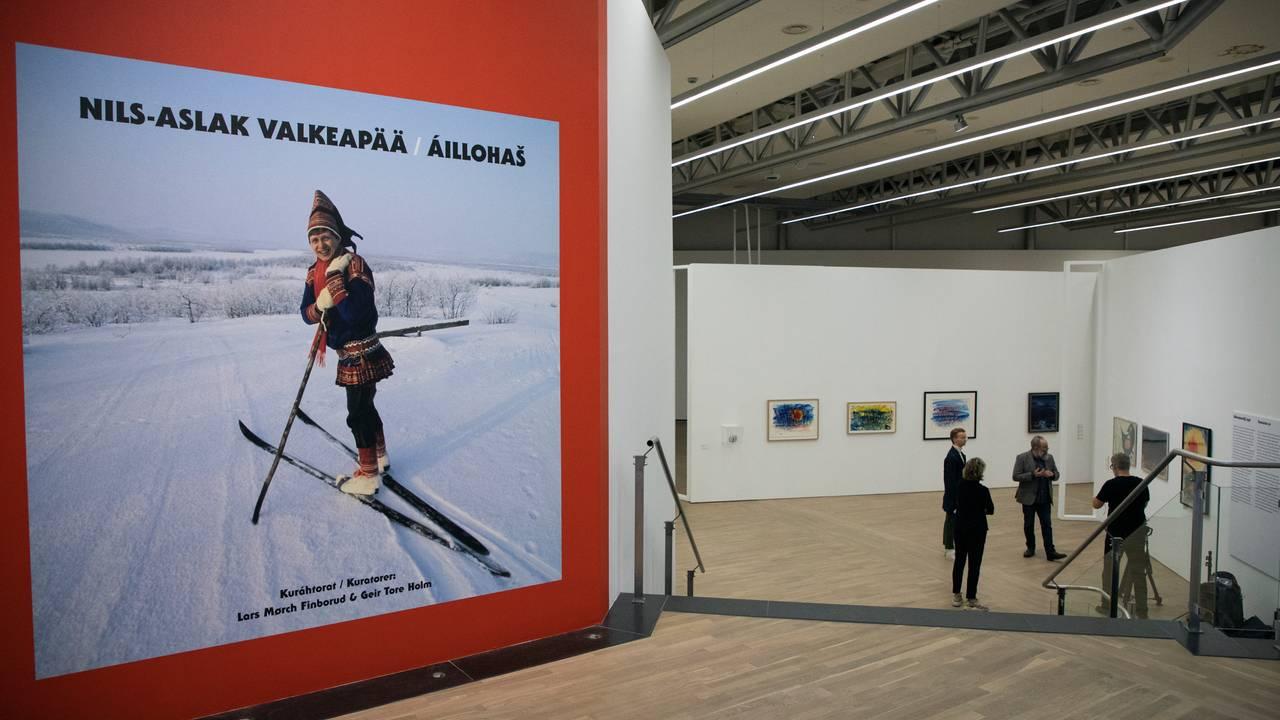 Inngangspartiet til Áillohaš-utstillingen