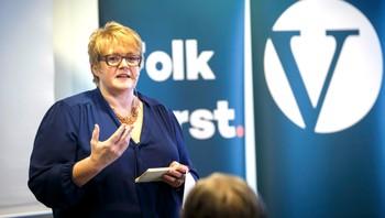 Trine Skei Grande holder tale under Venstres landsstyremøte