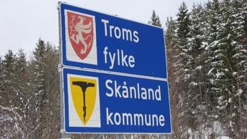Skilt i Skånland