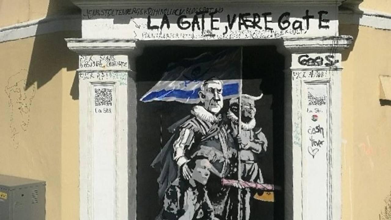 Et nytt kunstverk av gatekunstneren AFK dukket opp på det såkalte