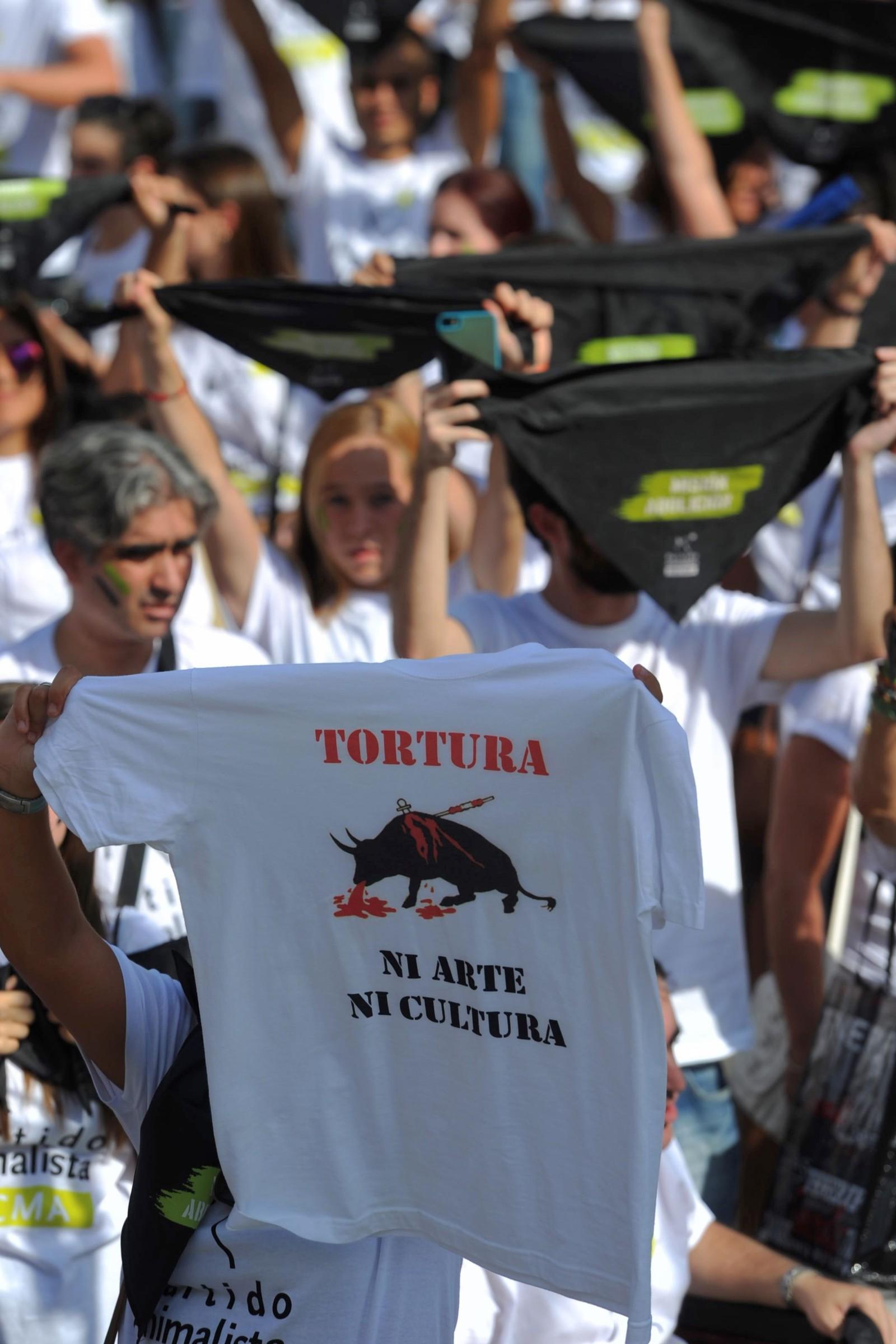Tortur, ikkje kunst eller kultur, står det på denne T-skjorta.
