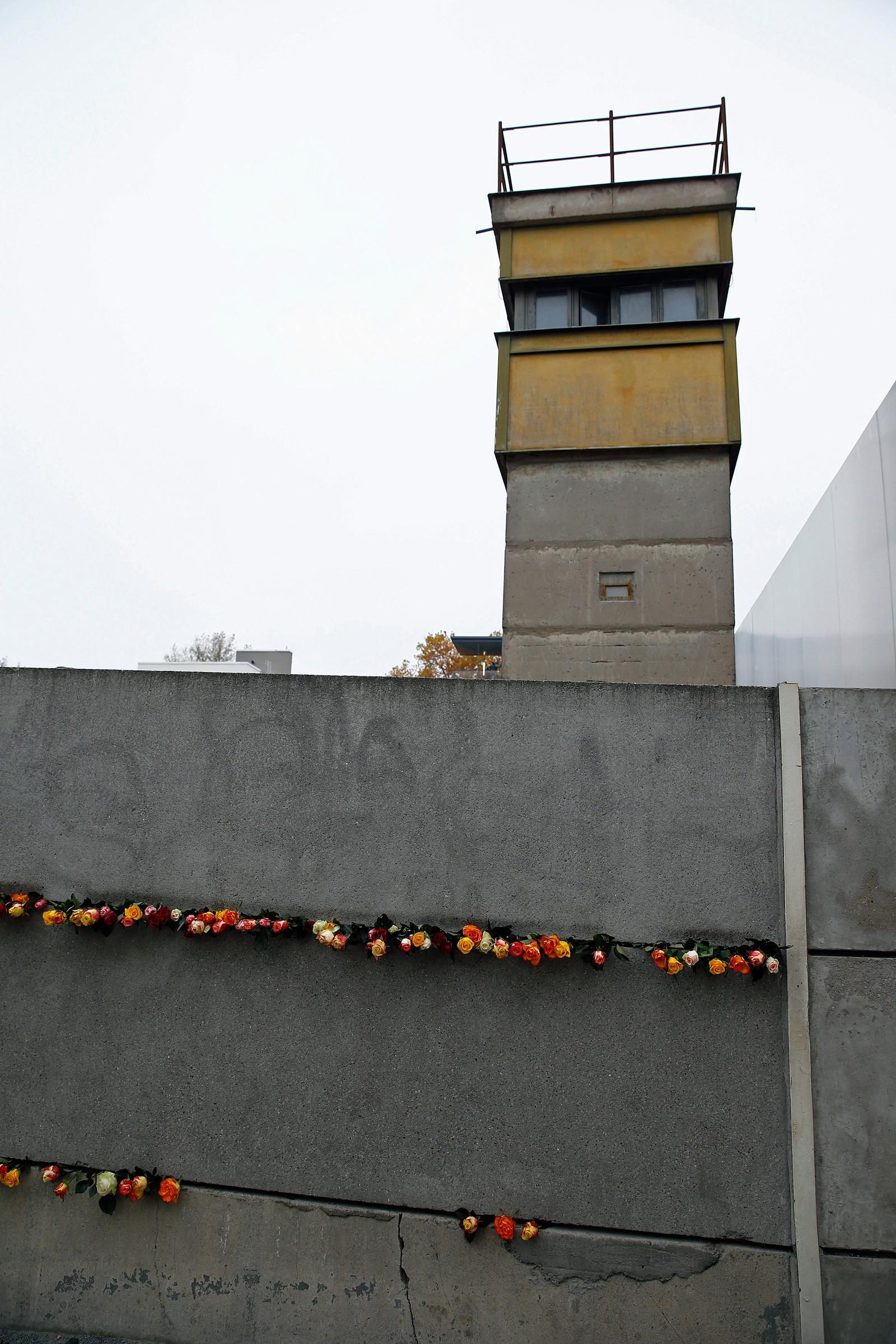 Roser på muren.