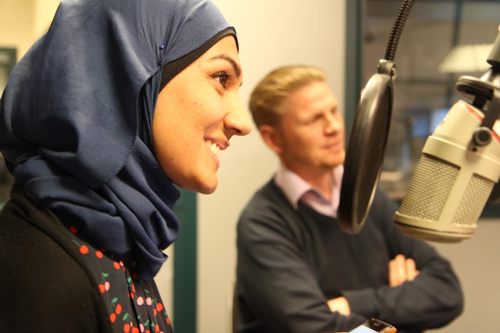 Safana Mubarak Ali og Ingve Iversen.