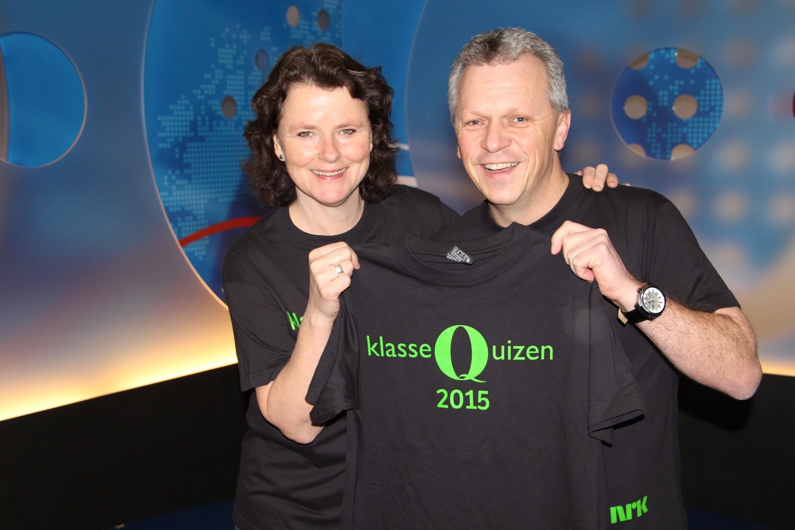 Elin Fossum og Ola Bjørlo Strande er programledere for Klassequizen 2016 i Hedmark og Oppland.