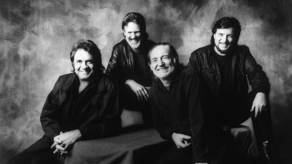 Supergruppa med Johnny Cash, Willie Nelson, Waylon Jennings og Kris Kristofferson