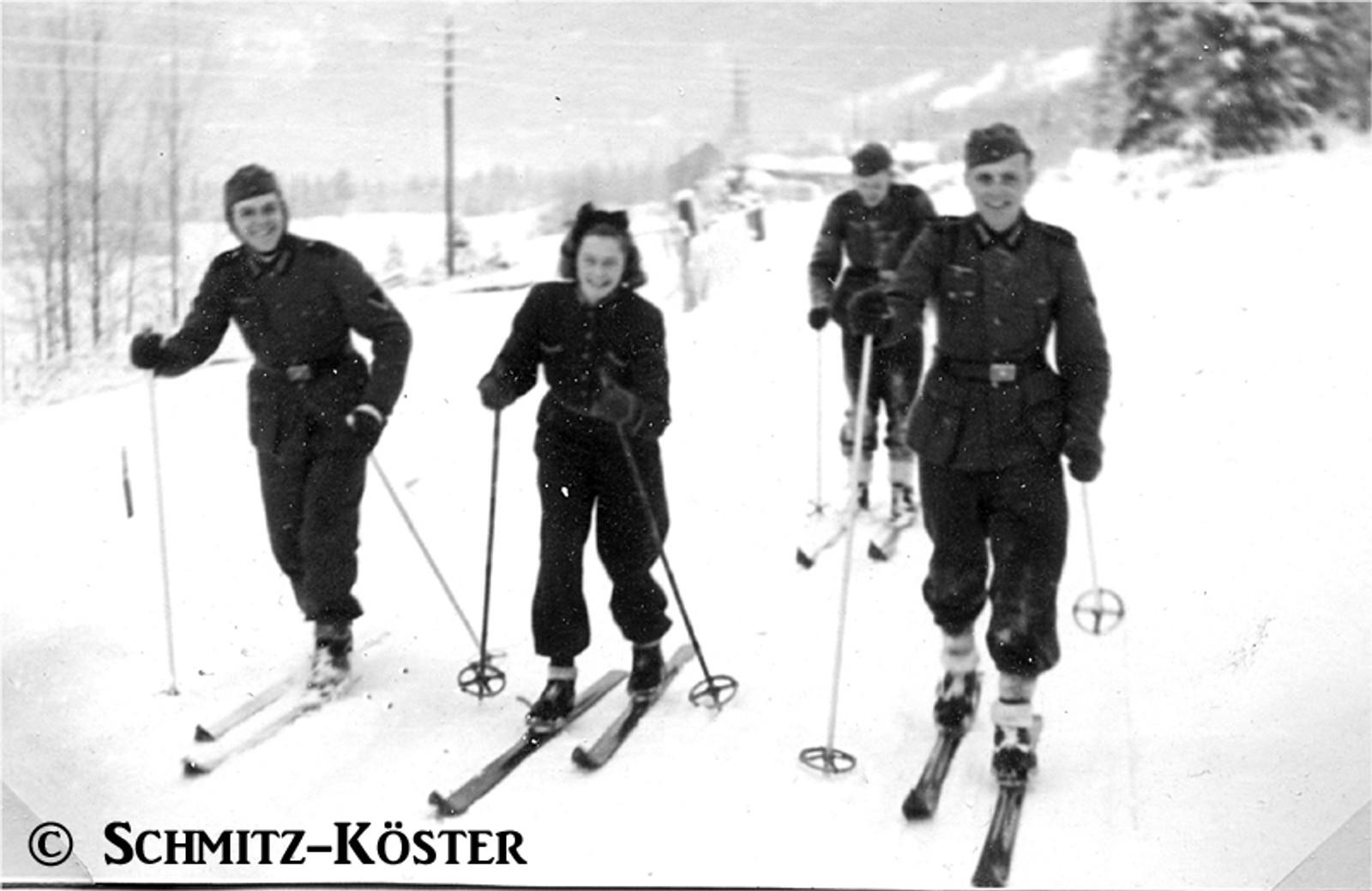 Bland Rudolf Schmitz sine minner frå tida i Noreg var korleis han lærte å gå på ski på Voss.