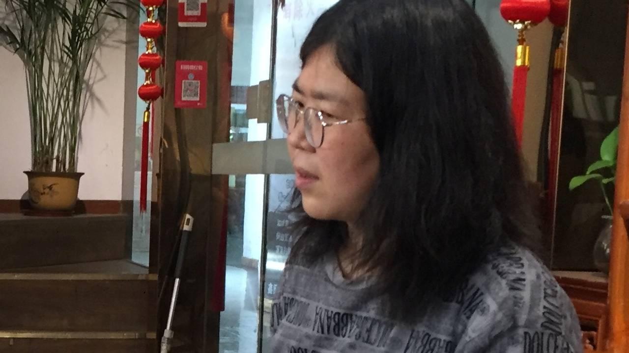 Borgerjournalist Zhang Zhan i Wuhan, 3. mai.