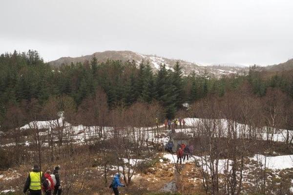 Fra Nordre Gløvrevann mot Landåsfjellet -  Foto: Fredrik Gorgas Brun