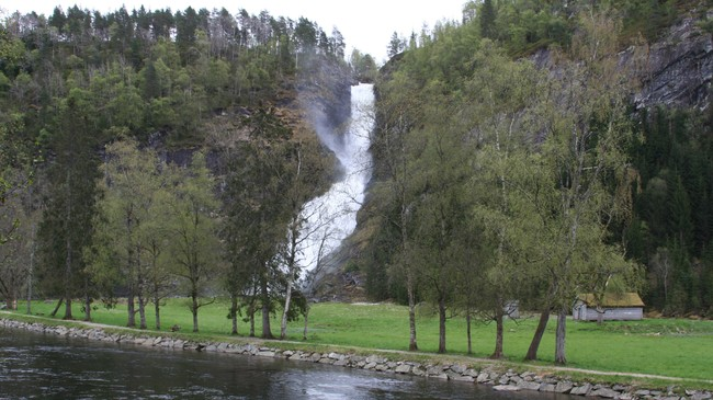 Huldefossen. Foto: Ottar Starheim, NRK
