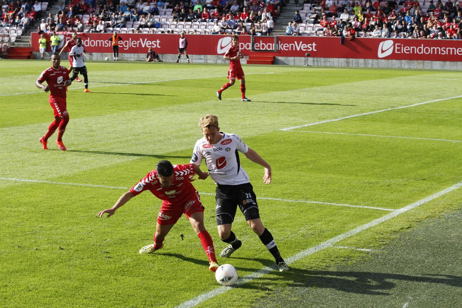 HELTEN: Kristian Fardal Opseth noterte seg for sitt fjerde, femte og sjette mål for sesongen.