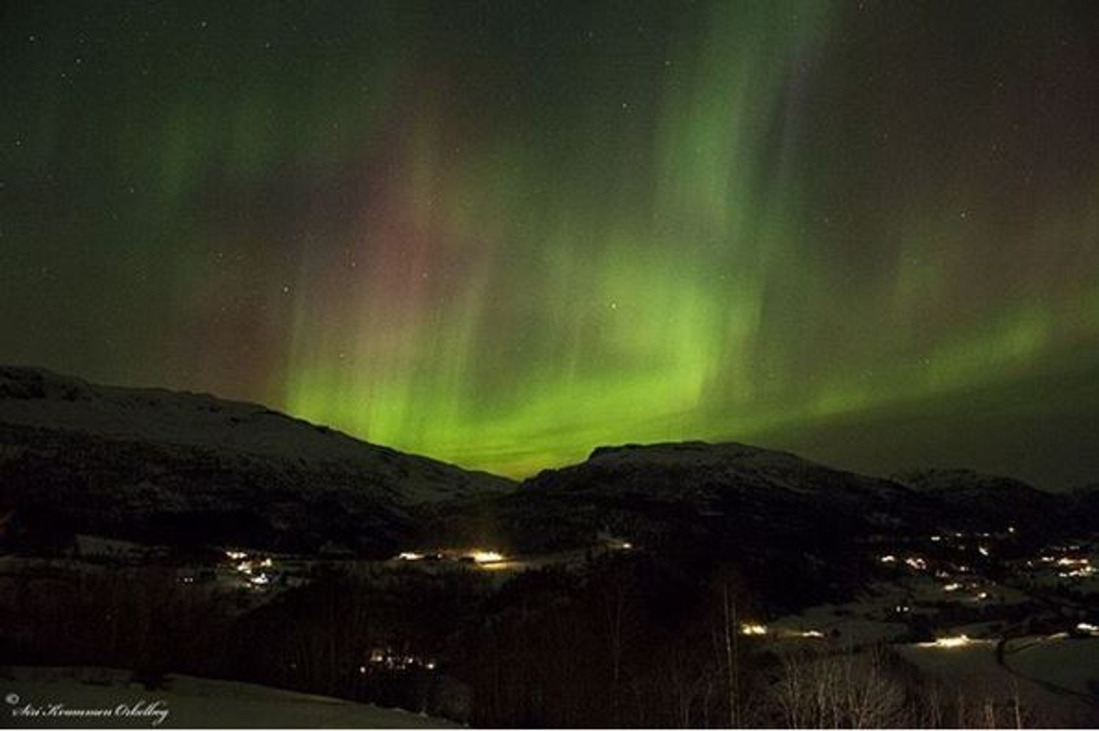 NAUSTDAL: Lysshow på himmelen