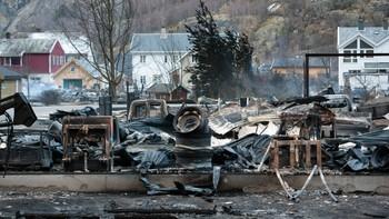 Storbrann på Lærdalsøyri natt til 19.januar.
