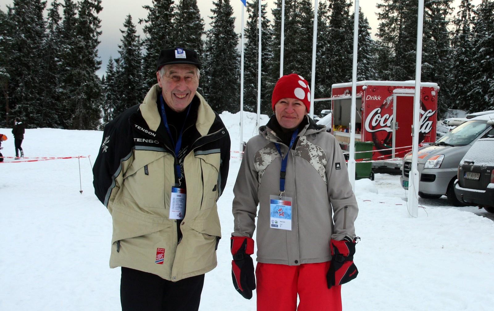 Her er Harald Grønningen og Berit Aunli i Granåsen.