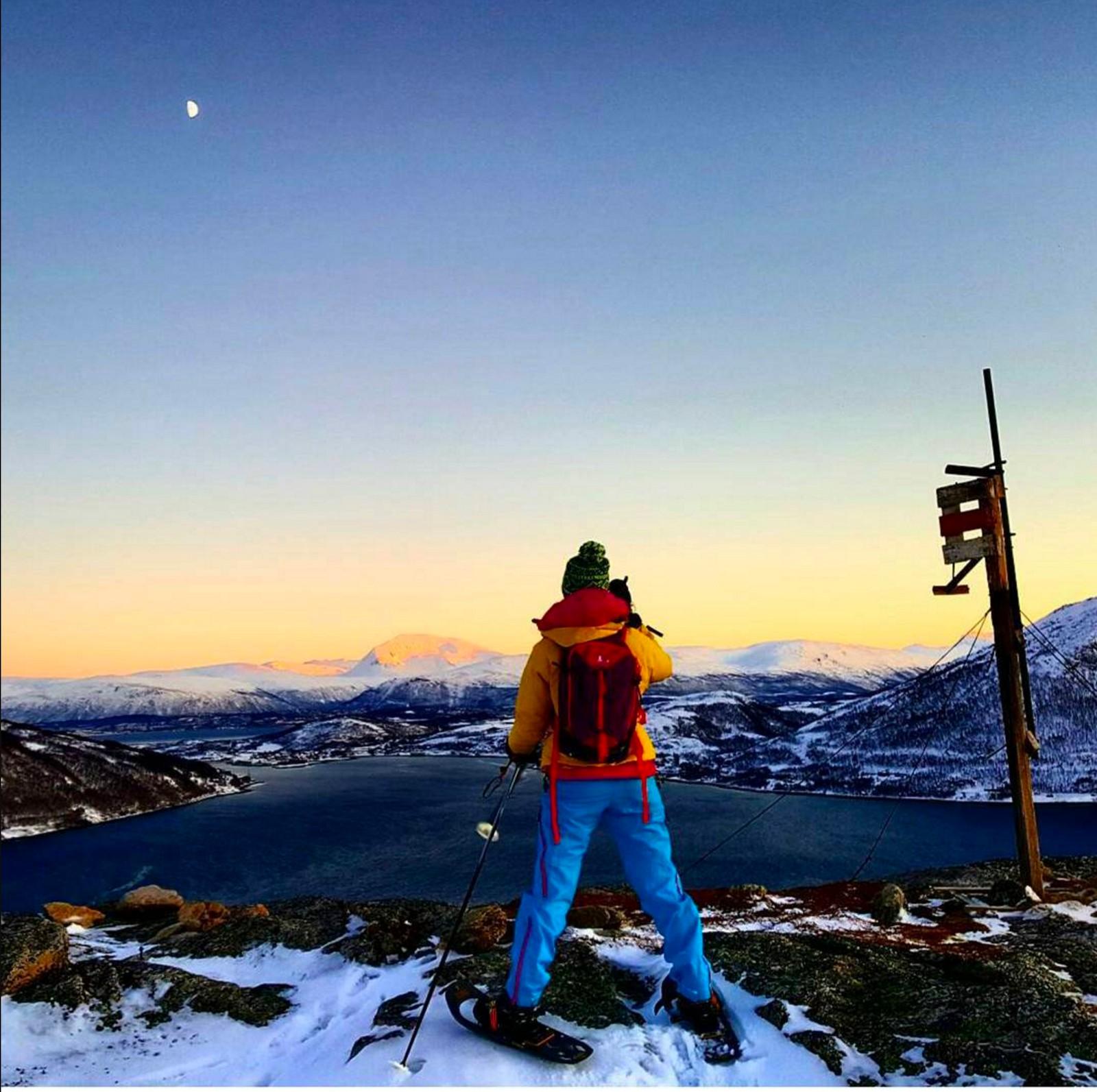 På fjelltur i Tromsø