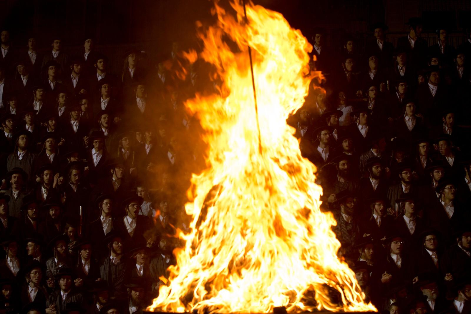 Ultra-ortodokse jøder deltok denne uka på markeringa av lag Ba'Omer i Jerusalem, en jødisk høytidsdag.