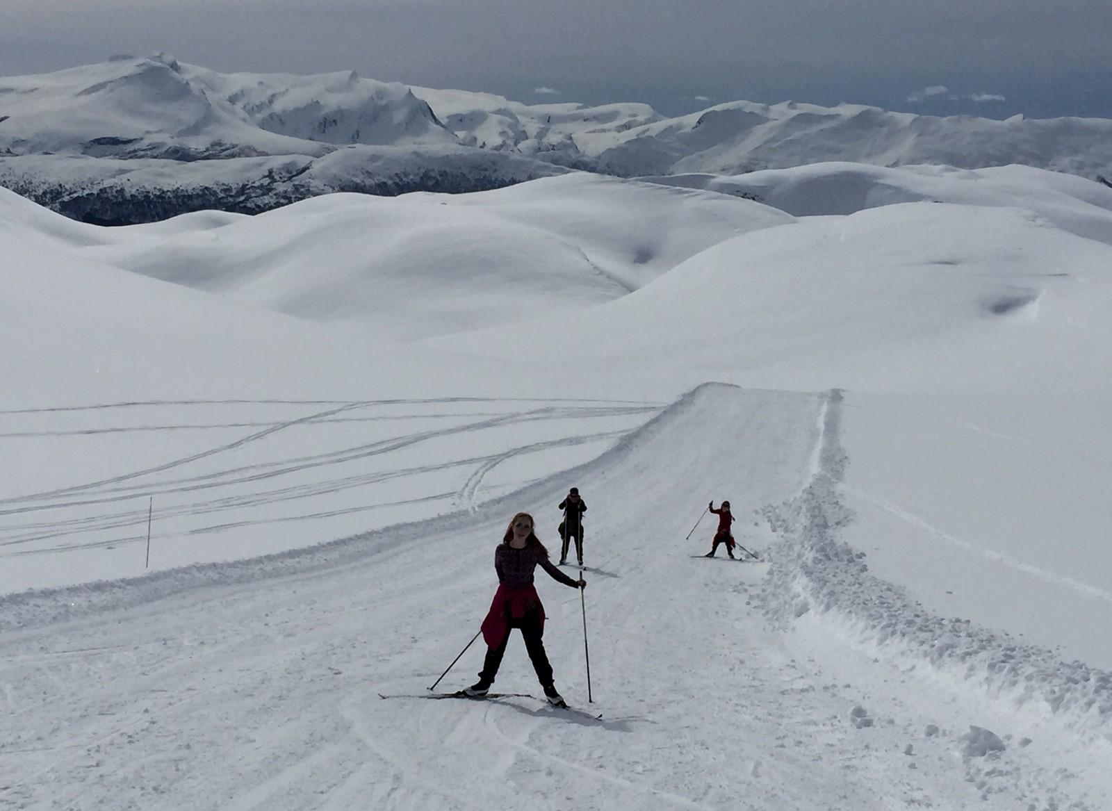 På veg til Steinsegga (1097 moh) frå Harpefossen i Nordfjord.