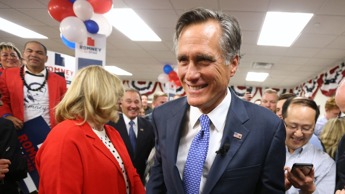 Mitt Romney kalla Trump svindlar - no er han senator