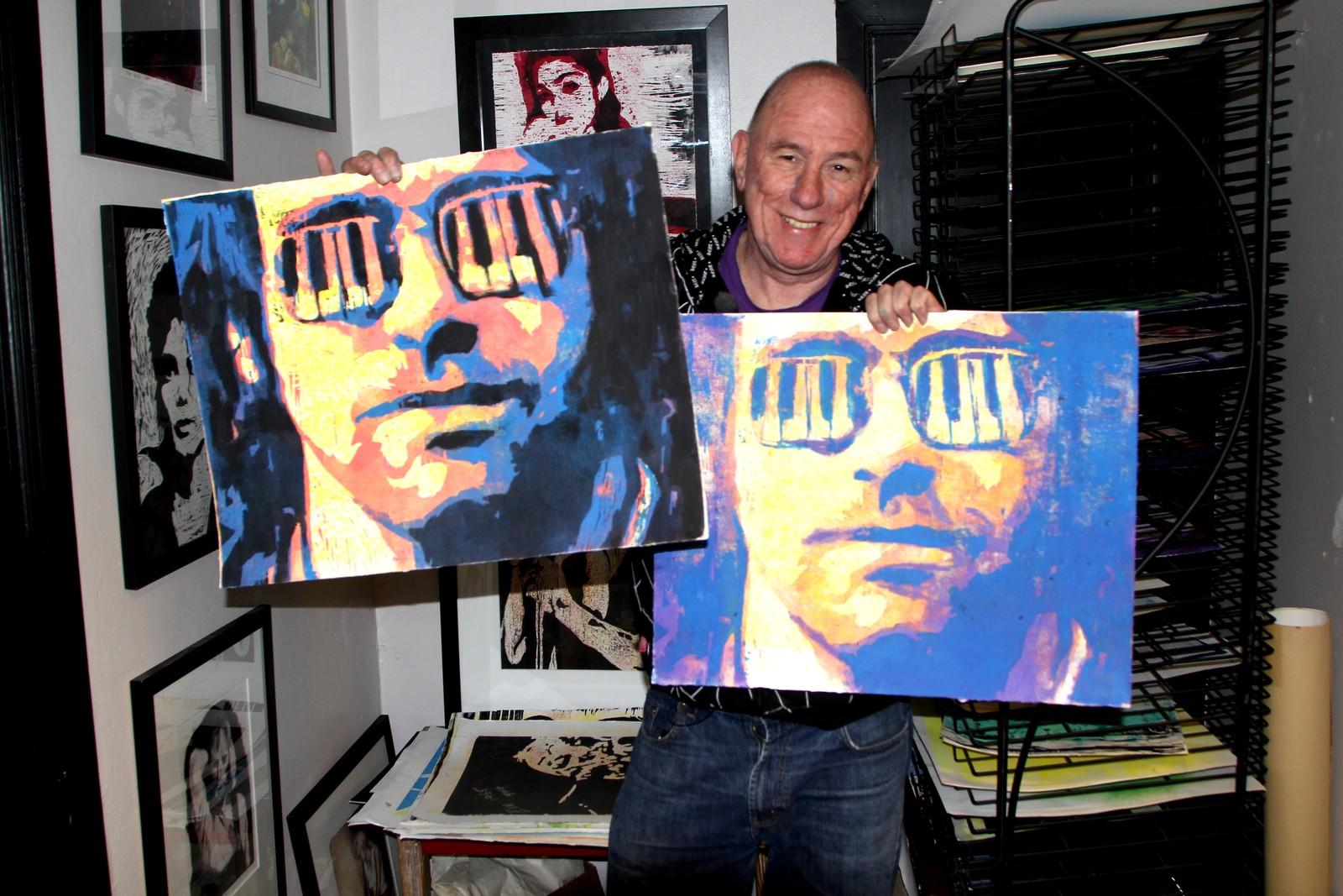 Dag Ringstad med Elton John-motiver